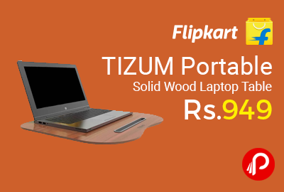 TIZUM Portable Solid Wood Laptop Table