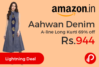 Aahwan Denim A-line Long Kurti