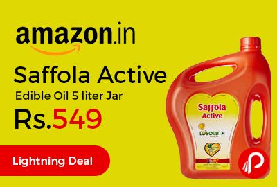 Saffola Active Edible Oil 5 liter Jar