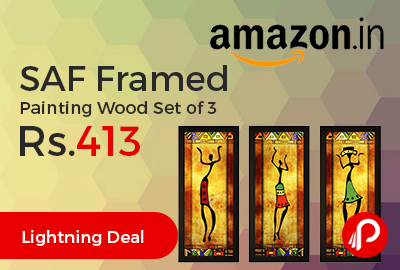 SAF Framed Painting Wood Set of 3