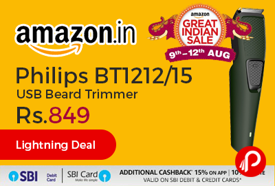Philips BT1212/15 USB Beard Trimmer