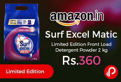 Surf Excel Matic Limited Edition Front Load Detergent Powder 2 kg