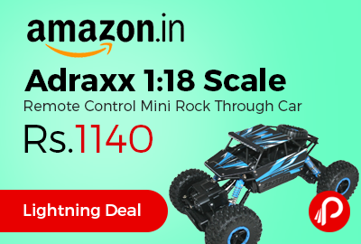 Adraxx 1:18 Scale Remote Control Mini Rock Through Car