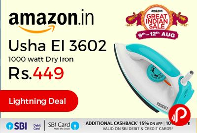 Usha EI 3602 1000 watt Dry Iron