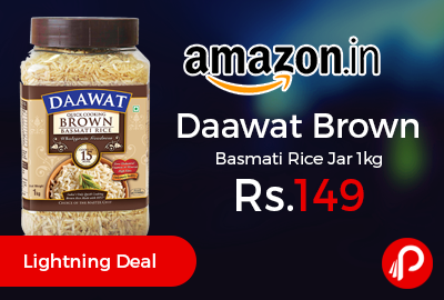 Daawat Brown Basmati Rice Jar 1kg