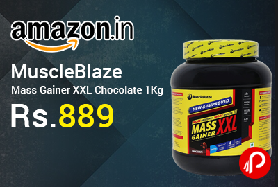 MuscleBlaze Mass Gainer XXL Chocolate 1Kg