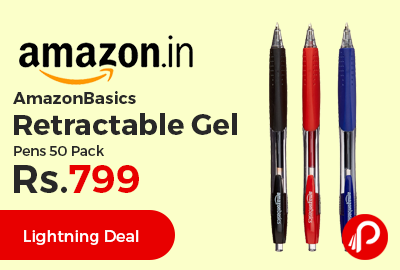 AmazonBasics Retractable Gel Pens 50 Pack