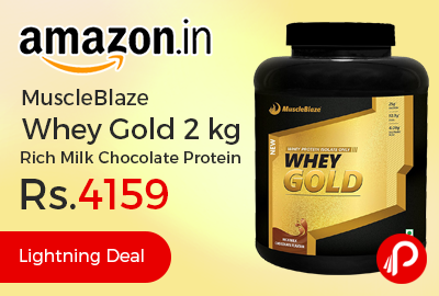 MuscleBlaze Whey Gold 2 kg Rich Milk Chocolate Protein