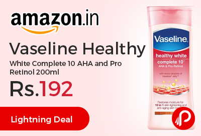 Vaseline Healthy White Complete 10 AHA and Pro Retinol 200ml