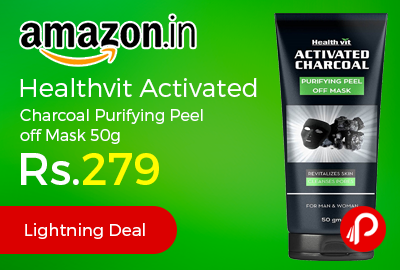 Healthvit Activated Charcoal Purifying Peel off Mask 50g