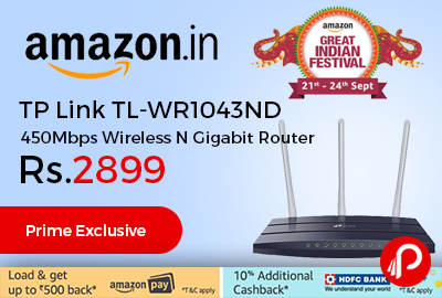 TP Link TL-WR1043ND 450Mbps Wireless N Gigabit Router