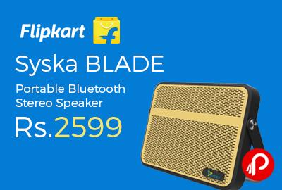 Syska BLADE Portable Bluetooth Stereo Speaker