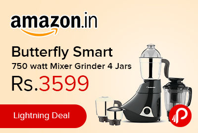 Butterfly Smart 750 watt Mixer Grinder 4 Jars