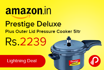 Prestige Deluxe Plus Outer Lid Pressure Cooker 5ltr