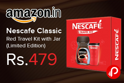 Nescafe Classic Red Travel Kit with Jar