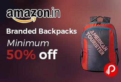 Branded Backpacks Minimum 50% off - Amazon