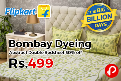 Bombay Dyeing Abstract Double Bedsheet