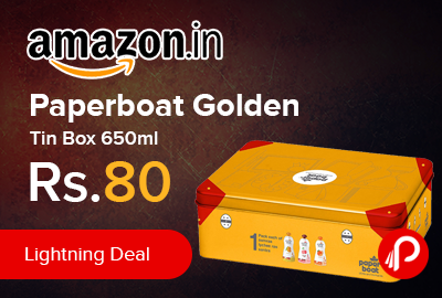 Paperboat Golden Tin Box 650ml