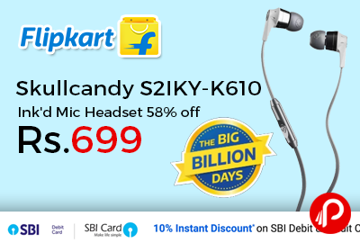 Skullcandy S2IKY-K610 Ink'd Mic Headset