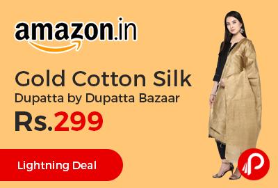Gold Cotton Silk Dupatta