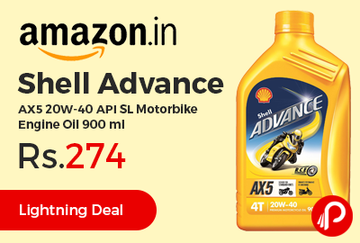 Shell Advance AX5 20W-40 API SL Motorbike Engine Oil 900 ml