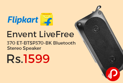 Envent LiveFree 370 ET-BTSP370-BK Bluetooth Stereo Speaker
