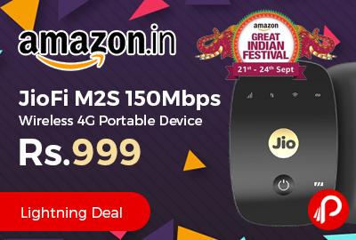 JioFi M2S 150Mbps Wireless 4G Portable Device