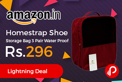Homestrap Shoe Storage Bag 3 Pair Water Proof