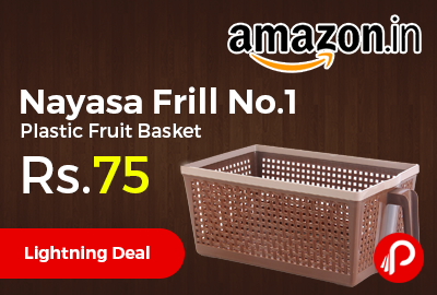 Nayasa Frill No.1 Plastic Fruit Basket