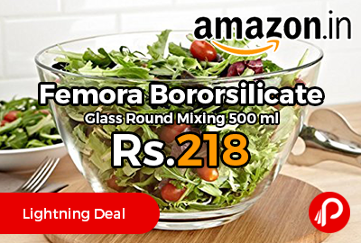 Femora Bororsilicate Glass Round Mixing 500 ml