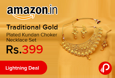 Traditional Gold Plated Kundan Choker Necklace Set