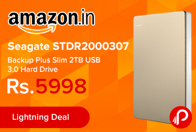 Seagate STDR2000307 Backup Plus Slim 2TB USB 3.0 Hard Drive