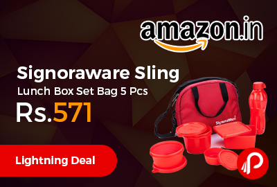 Signoraware Sling Lunch Box Set Bag 5 Pcs