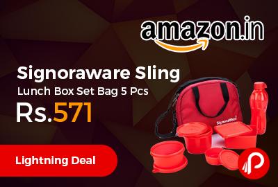 Signoraware Sling Lunch Box Set Bag 5 Pcs