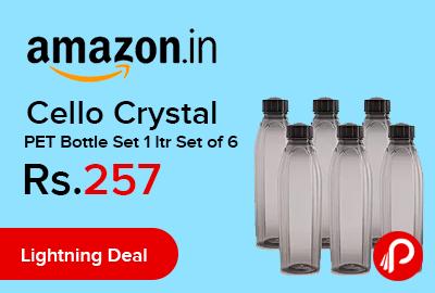 Cello Crystal PET Bottle Set 1 ltr Set of 6
