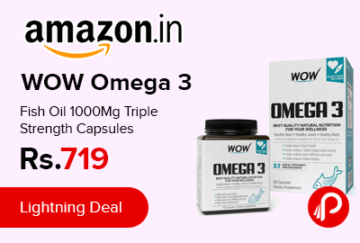 WOW Omega 3 Fish Oil 1000Mg Triple Strength Capsules