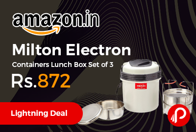 Milton Electron Containers Lunch Box Set of 3