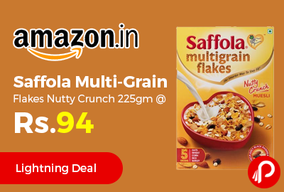 Saffola Multi-Grain Flakes Nutty Crunch 225gm