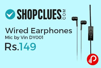 Wired Earphones Mic by Vin DY001