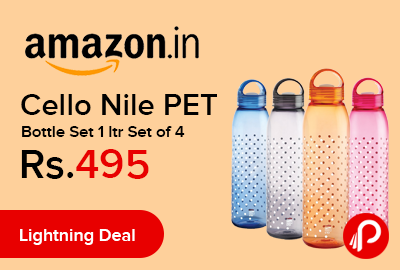 Cello Nile PET Bottle Set 1 ltr Set of 4