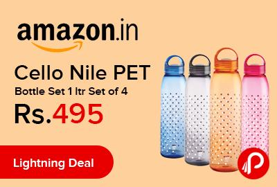Cello Nile PET Bottle Set 1 ltr Set of 4