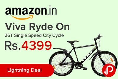 Viva Ryde On 26T Single Speed City Cycle