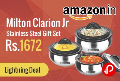 Milton Clarion Jr Stainless Steel Gift Set