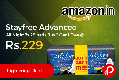 Stayfree Advanced All Night 7s 28 pads