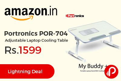 Portronics POR-704 Adjustable Laptop Cooling Table
