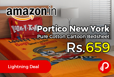 Portico New York Pure Cotton Cartoon Bedsheet