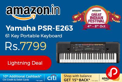 Yamaha PSR-E263 61 Key Portable Keyboard at Rs.7799 - Amazon