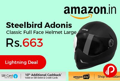 Steelbird Adonis Classic Full Face Helmet Large