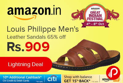 Louis Philippe Men's Leather Sandals