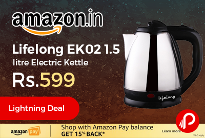 Lifelong EK02 1.5 litre Electric Kettle